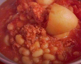 Corned Beef Hash with Baked Beans,jpeg