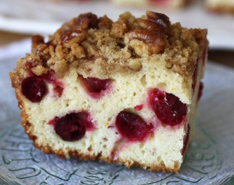 Cranberry orange walnut cake