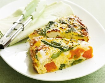APPLE AND GOAT CHEESE FRITTATA