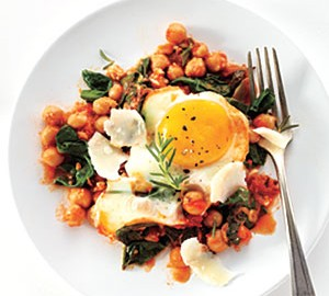 CHICKPEA TOMATA AND EGG BAKE