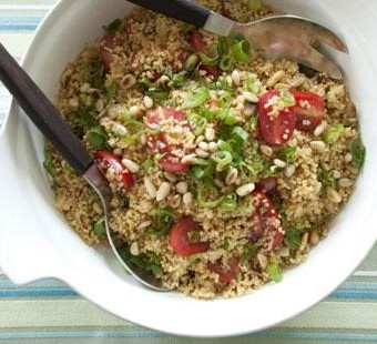 Couscous salad with pine nuts