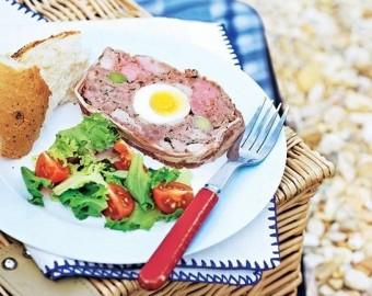 Eggy meat terrine