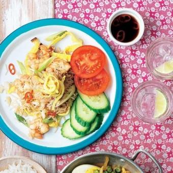 Eggy prawn stir