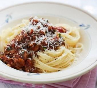 Gluten-free spaghetti Bolognese