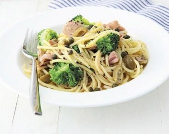 Lemon spaghetti with tuna