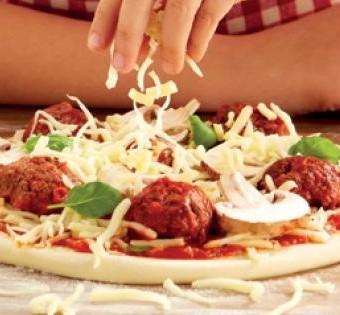 Meatball _ Mushroom Pizza