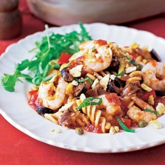 Spiced seafood pasta