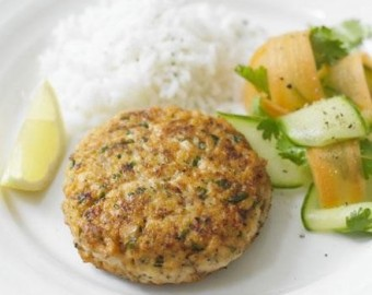 Super healthy salmon burgers
